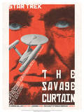 Star Trek Episode 77: The Savage Curtain TV Poster Prints by Juan Oritz
