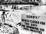 Puerto Rican Hilton Hotel Beach Closed by an Oil Spill Photographic Print