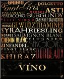 Vino Type Mounted Print by Stephen Fowler