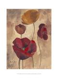 Textured Poppies I Prints by Marietta Cohen