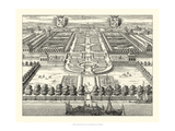 Crackled Formal Garden View IV Premium Giclee Print by Eric Dahlbergh