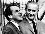 President Lyndon Johnson with His Successor, President-Elect Richard Nixon, Nov 11, 1968 Photographic Print