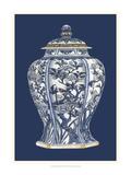 Blue and White Porcelain Vase I Poster von  Vision Studio