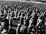 Thousands of Red Army Soldiers Raise their Clenched Fists Photo