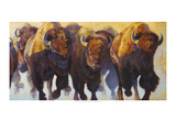 Wall of Thunder Premium Giclee Print by Julie Chapman
