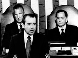 Addressing Congress, Pres Richard Nixon Announces a 90-Day Wage-Rent Freeze Would Not Be Extended Posters