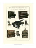 Pianos, Organ and Chairs 1876 Giclee Print by Vision Studio