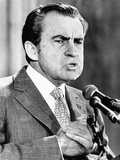 President Richard Nixon Addressing a Convention of Families of American POWs Print