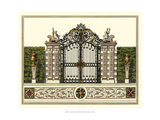 The Grand Garden Gate II Poster by O. Kleiner