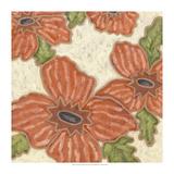 Persimmon Flora II Reproduction giclée Premium par Karen Deans