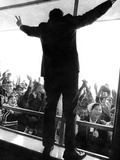 Former Vice President Richard Nixon in His Uniquely Styled Victory Posture Photographic Print