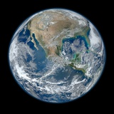 Image of the Earth Taken from NASA's Earth Observing Satellite, Suomi Npp Photo