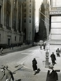 Wall Street on March 10, 1933 During the New Deal 'Bank Holiday' Photographic Print