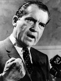 Republican Presidential Candidate Richard Nixon Speaking with a Clenched Fist on April 20, 1968 Photographic Print