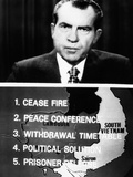 Television Screen from President Richard Nixon's 14-Minute Address of New Vietnam Peace Initiative Photo
