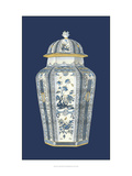 Asian Urn in Blue and White I Reproduction procédé giclée par Vision Studio