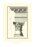 Crackled B&W Column and Cornice I Print by Giovanni Borra