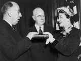 Maybelle Kennedy Being Sworn in as Assistant Treasurer of the United States in 1952 Photographic Print
