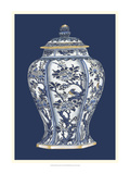 Blue and White Porcelain Vase II Reproduction procédé giclée par Vision Studio