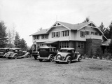 Little Bohemia Lodge, John Dillinger and His Gang Escaped a Machine Gun Shoot Out with the FBI Photographic Print
