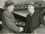 The Dulles Brothers Meet at La Guardia Airport, on October 4, 1948 Photographic Print