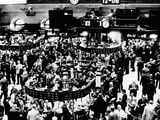 Trading Floor of the New York Stock Exchange on April 3, 1968 Photographic Print
