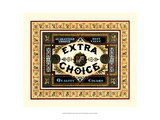 Crackled Extra Choice Cigars Giclee Print by Vision Studio