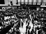 Trading Floor of the New York Stock Exchange on March 30, 1970 Photographie