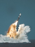 Underwater Launch of a Trident Ballistic Missile from a Submarine Photographic Print
