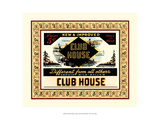 Crackled Clubhouse Cigars Giclee Print by Vision Studio