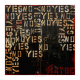 Yes, No, Maybe Giclee Print by Erin Ashley