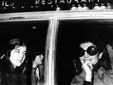 Jacqueline Kennedy Onassis in a Limousine with Her Daughter Caroline and Son John Photographic Print
