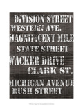 Streets of Chicago I Posters av Andrea James