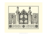 Crackled B&W Grand Garden Gate III Prints by O. Kleiner