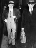 New York Organized Crime Boss, Frank Costello (Left), with His Lawyer, George Wolf Photo