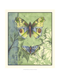 Embellished Vibrant Butterflies I Art by Jennifer Goldberger