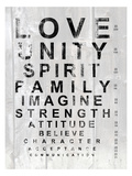 Eye Chart I Poster av Andrea James
