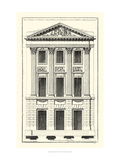 Crackle B&W Architectural Facade I Premium Giclee Print by Jean Deneufforge
