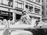 General Dwight Eisenhower Waves to Cheering New York Crowds, June 19, 1945 Photographic Print