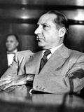Mob Boss, Frank Costello, Refusing to Testify to the Senate Crime Investigating Committee Photo