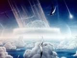 Asteroid Slamming into the Shallow Seas of the Yucatan Peninsula Prints