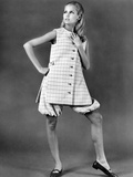 Jacques Tiffeau, French-Born Fashion Designer, Creating Designer Mini-Skirted Fashions Photographic Print