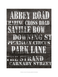 Streets of London I Posters av Andrea James