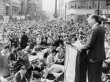 1956 Democratic Presidential Nominee Adlai Stevenson, Speaking to a Crowd at Paterson, New Jersey Photographic Print