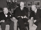 Prime Minister Winston Churchill, Financier Bernard Baruch, and Pres-Elect Dwight Eisenhower Photographic Print