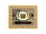 Crackled El Matador Cigars Giclee Print by Vision Studio