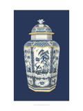 Asian Urn in Blue and White II Prints by Vision Studio