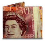 50 Pound Note Tyvek Mighty Wallet Wallet