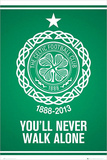 Celtic FC - You'll Never Walk Alone Crest Poster