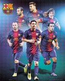 FC Barcelona 2012/13 Players Affiche